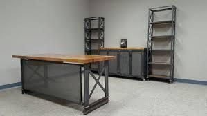 complete industrial office set upcarruca desk industrial credenza carruca desk office