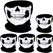 5 Pack <b>Skull Mask Skull</b> Face <b>Mask</b> Motorcycle <b>Bicycle</b> Half Face ...