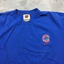 Nike вышитые 90-х годов Vintage Chicago Cubs MLB логотип ...