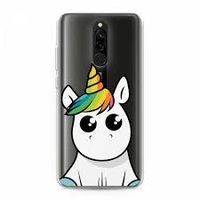 Силиконовый <b>чехол</b> Глазастый единорог на Xiaomi Redmi 8