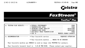 telstra fax on line diagnostics folds test gough s tech zone as i love troubleshooting faxes and modems i tend to have the speaker on during faxing interestingly it complains that the transmit level is 5db too high