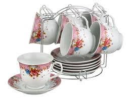 <b>Набор чайный</b> 6 персон 12 предметов 200 мл на металлической ...