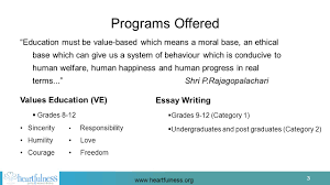 1 1 conscious living a heartfulness initiative that has programs 3 3