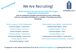 pickerings lifts linkedin due to continuous growth and elevated success pickerings lifts are currently recruiting for a number of vacancies to apply for any of the roles listed