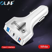 <b>OLAF QC3</b>.<b>0</b> Dual USB Car Charger Quick Charge Mobile Phone ...