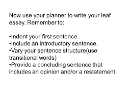 what makes leaves greenwhat is photosynthesis why leaves change  now use your planner to write your leaf essay remember to indent your first