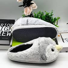 Penguin <b>Fur Slippers Timber Land</b> Shoes Men Women Winter ...