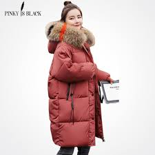 <b>PinkyIsBlack</b> 2018 Long <b>Winter Jacket Women</b> Large Fur Hooded ...