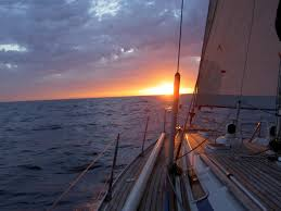 Image result for sailing in sunset