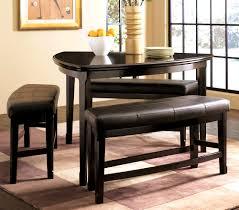 oak dining bench black