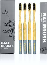 Premium <b>Bamboo</b> Toothbrushes with <b>Charcoal</b> Bristles ...
