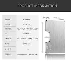 CaseKey <b>Metal</b> Credit Card Holder Rfid Wallet Blocking Portable ID ...