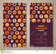 halloween party invitation holiday flat icons in circles halloween party invitation holiday flat icons in circles