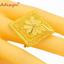 <b>Adixyn</b> Hollow Big Size Rings for Women/Girls <b>Gold</b> Color Trendy ...