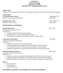 Resume examples - Military
