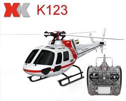 (With 2 Batteries) <b>Original XK K123 6CH</b> Brushless AS350 Scale ...