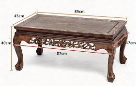 solid wood coffee table decoration rectangle 85cm long living room furniture asian style low coffee center asian style furniture asian