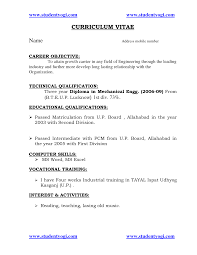 doc cv samples for freshers engineers com cv career objective engineering
