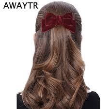 AWAYTR New Long Ribbon Bowknot Hairclip For <b>Women</b> ...