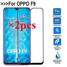 <b>2pcs</b> For OPPO F9 <b>Full Glue Cover</b> Tempered Glass Screen ...