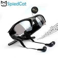 SPIED CAT 480P Digital MP3 Player Sunglasses <b>Mini</b> Camera DV ...