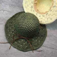 Online Shop 2017 New Raffia Handmade Crochet Soft Fold <b>Straw</b> ...
