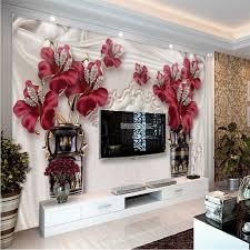 <b>beibehang</b> wallpaper <b>3D</b> stereo <b>exquisite</b> luxury jewelry flowers soft ...