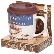 <b>Кружка керамическая</b> Кофе с ложкой Y6-2202 I.K, 350 мл в Твери ...