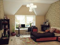 f beautiful wall background of modern small apartment bedroom design with wonderful chandelier over single bed and rectangle glass writing desk using bedroomcaptivating comfortable office