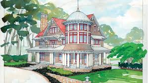 Queen Anne House Plans and Queen Anne Designs at BuilderHousePlans comQueen Anne Style House   Plan HWBDO