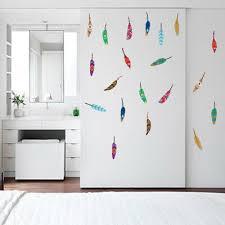 Colorful <b>Feather</b> Wall Sticker <b>Cartoon</b> Decals Baby <b>Nursery</b> Kids ...