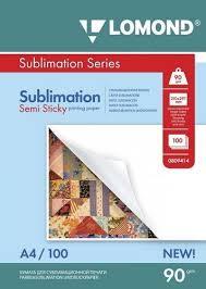 Сублимационная полулипкая матовая <b>бумага LOMOND</b> Semi ...
