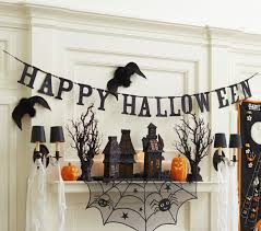 halloween gallery wall decor hallowen walljpg full size of decoration black glitter hallloween garland happy halloween banner hounted house props spider