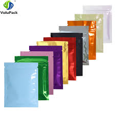 <b>7.5x10cm</b> 3x4in <b>100pcs lot</b> Glossy Colors Flat Gift Packing Bags ...