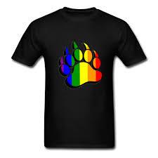 <b>New 2018 Fashion Summer</b> Gay Bear claw rainbow flag black ...