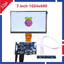 52Pi <b>7 inch LCD</b> 1024*600 <b>Display Monitor Screen</b> Kit with Drive ...