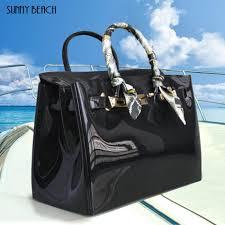 <b>Hot</b> Sale Popular Female Handbag <b>Plastic Pvc</b> Waterproof Rubber ...