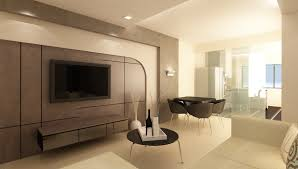 Interior Design For Living Room And Dining Room Fabulous Futuristic Open Space Home Interior Design Ideas In Brown