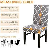 NewLifes <b>Chair Cover</b>, <b>6 PCS</b> Stretch Dining <b>Chair Covers</b> High ...