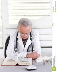 senior doctor researching stock photo image  senior doctor researching
