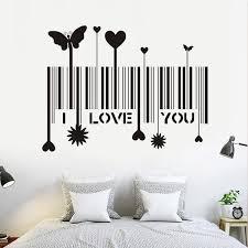 <b>1 Pcs</b> I Love You Barcode Home Decor <b>Creative</b> Decal <b>Butterfly</b>