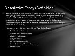 the types of essays tutorial   descriptive essay