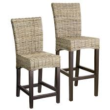 wicker bar height dining table: impressive wicker grey counter stool height with backs