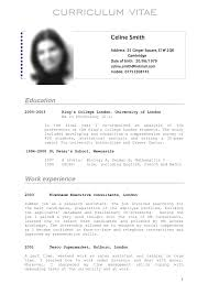 sample cv template word example of tabular templat format for it