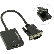 <b>Espada</b> < HCV0201> <b>VGA</b> to HDMI Converter (<b>VGA</b> (15M)+Jack3.5 ...