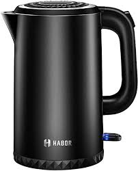 Cordless <b>Electric</b> Kettle, 1.7 L Double Wall <b>304 Stainless Steel</b> Hot