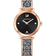 <b>Cosmic</b> Rock Watch, Metal bracelet, <b>Black</b>, Rose-gold tone PVD ...