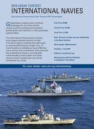 international navies essay contest u s naval institute sponsored by leonardo finmeccanica