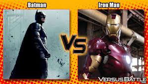 better superhero batman vs iron man batman iron man fanboy