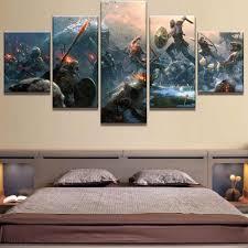 <b>5</b> Piece <b>HD Print Large</b> God Of War Game Poster Cuadros ...